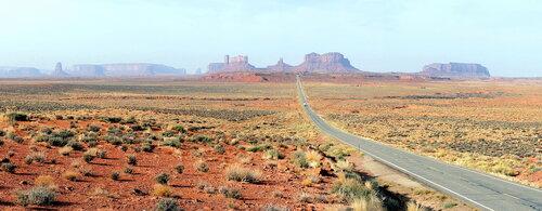 Дорога в Долину монументов