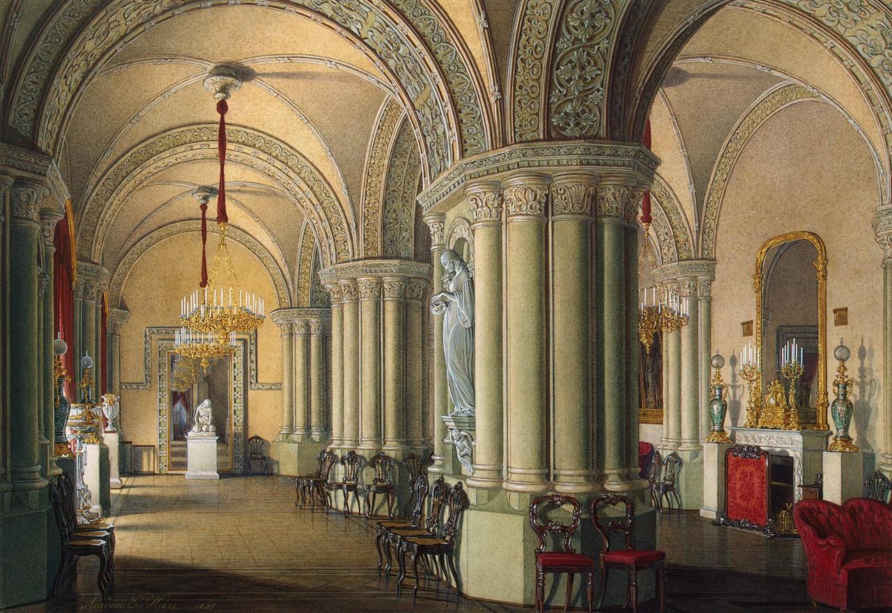 Интерьеры Зимнего дворца. Готическая гостиная великих княгинь