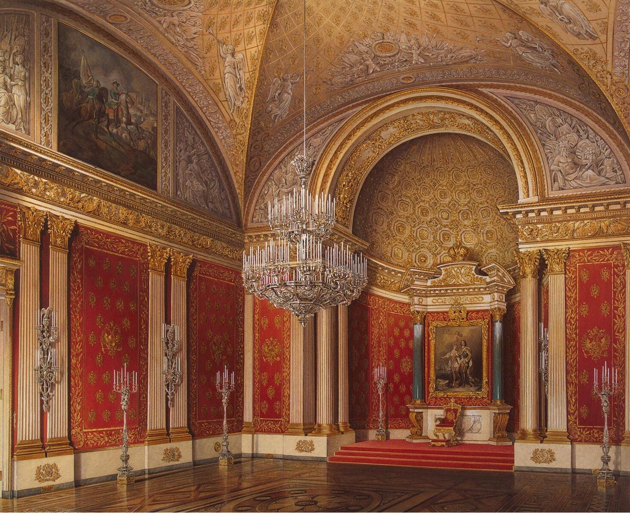 Интерьеры Зимнего дворца. Петровский зал
