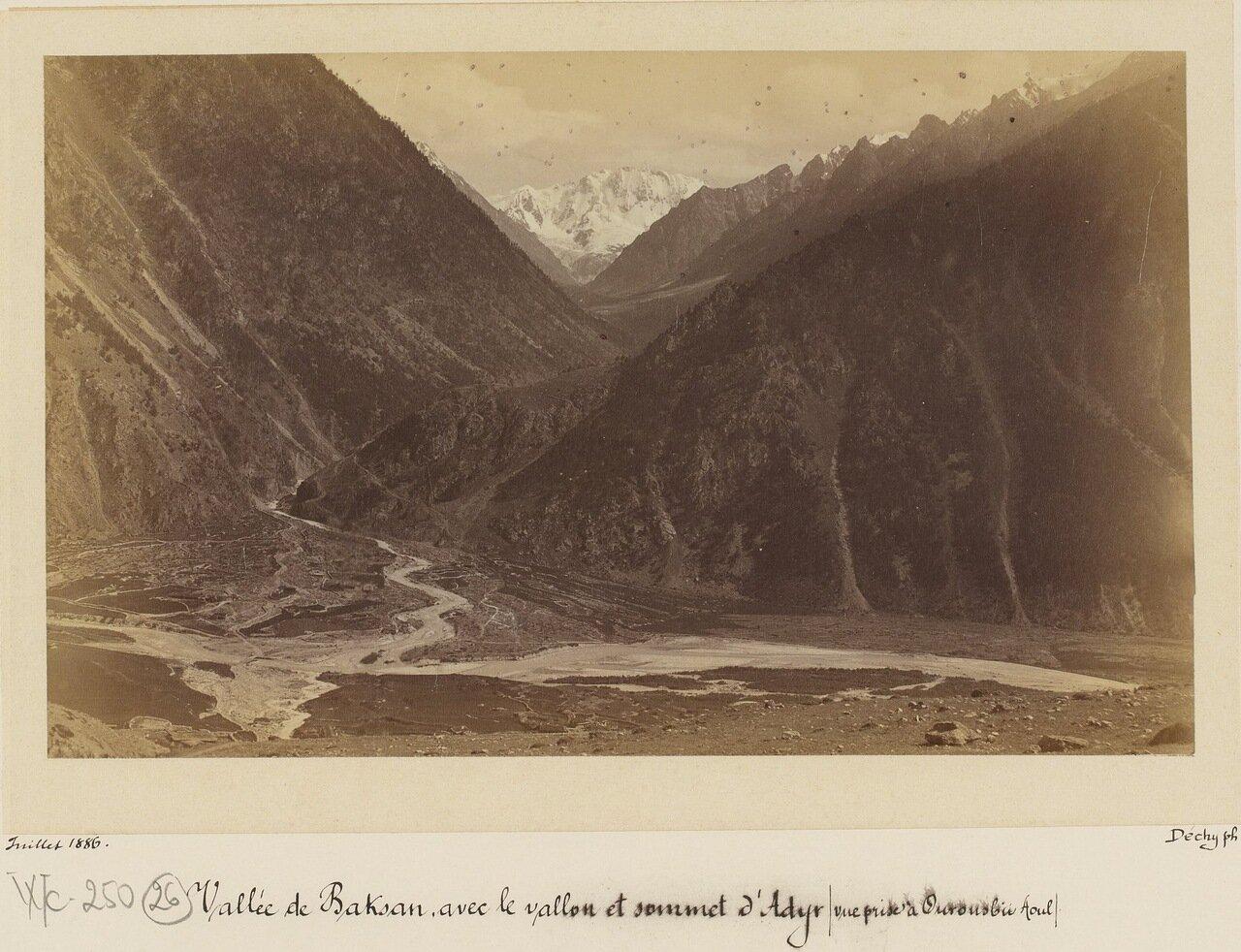 Уллу-тау, в ущелье Адыр-Су, вид из Баксанской долины