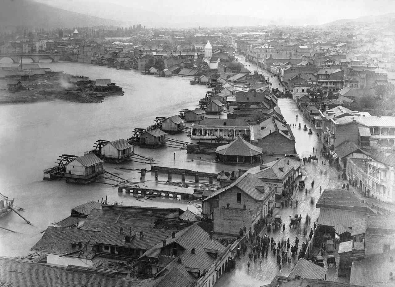 Тифлис 1893 года во время наводнения