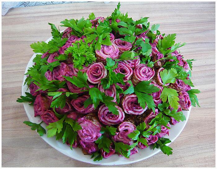 салат букет роз фото рецепт