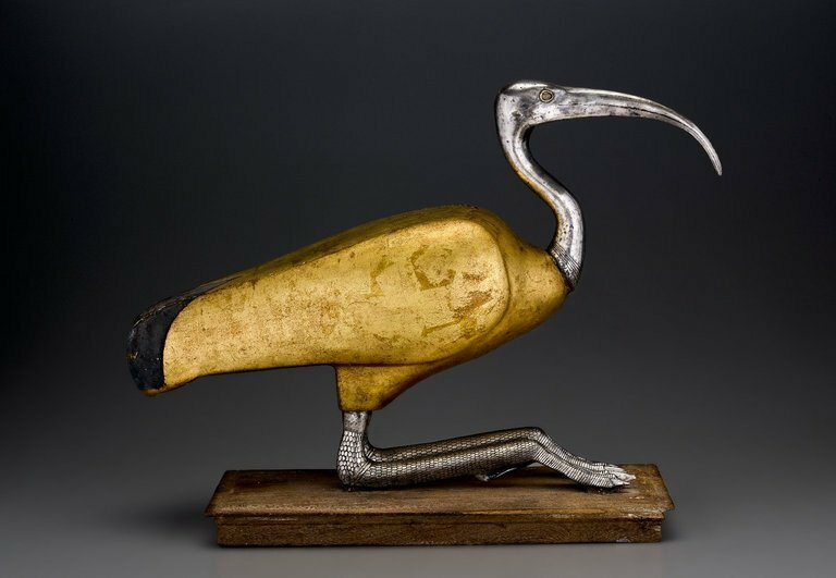 Ibis Coffin, Egypt, 305-30 B.C. Wood, silver, gold, and rock crystal