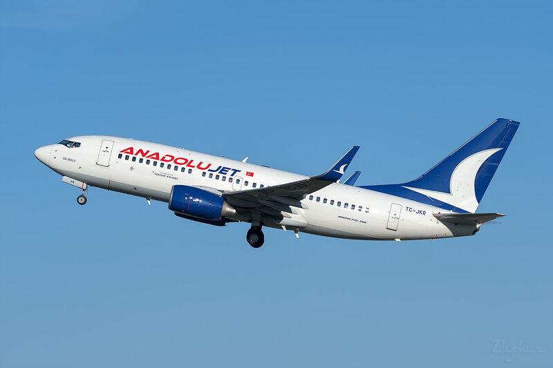 Boeing 737-7GL (TC-JKR) AnadoluJet DSC7094