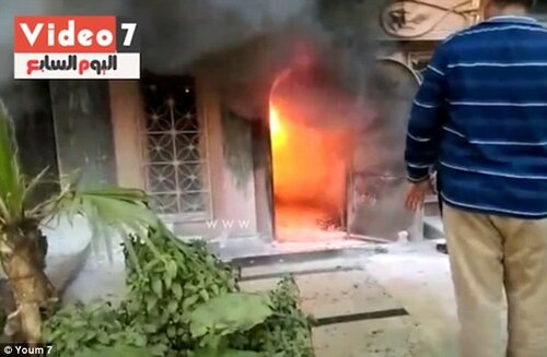 """Взрыв в столице Египта - в кафе бросили """"коктейль Молотова"""""""