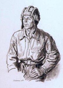 Портрет танкиста-орденоносца И.Я. Амелина. 1942 г.