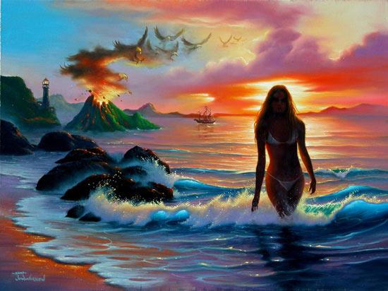 Стихия Воды художника Джима Уоррена
