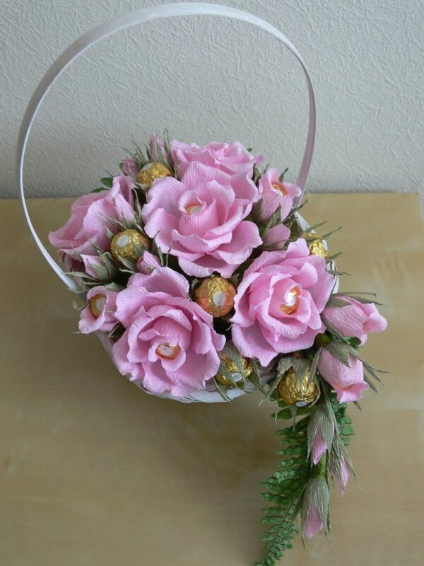 Конфетный букет из роз своими руками мастер класс