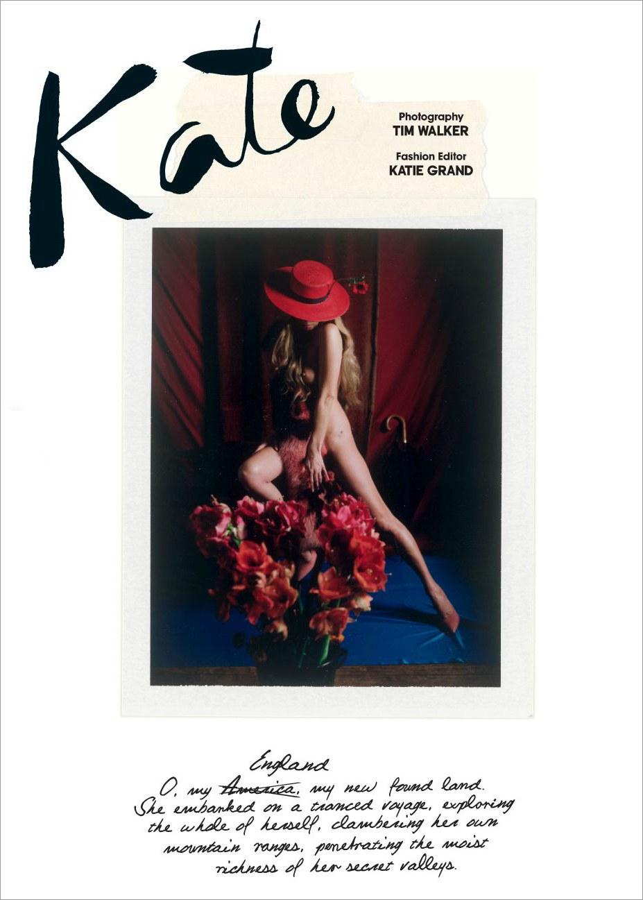 Kate Moss / Кейт Мосс в одежде из цветов в журнале Love Magazine, весна-лето 2013 / фотограф Tim Walker