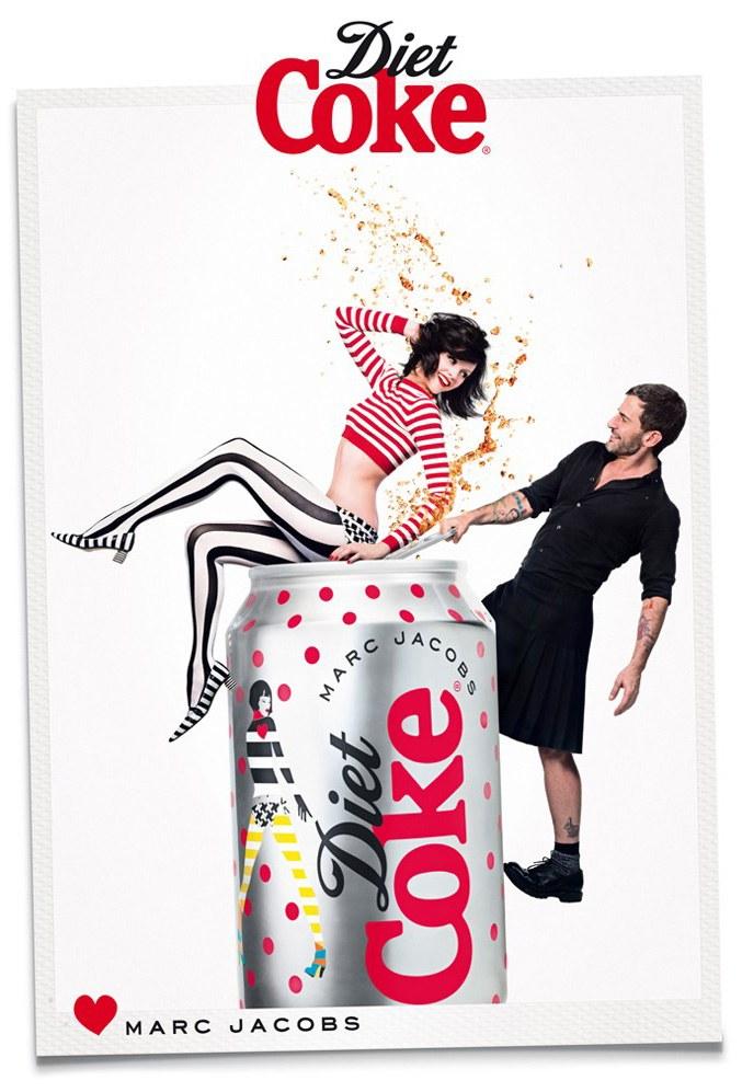 Marc Jacobs and Ginta Lapina / Марк Джейкобс и Джинта Лапина в рекламе юбилейной коллекции Diet Coke, весна 2013