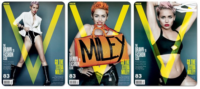 Miley Cyrus / Майли Сайрус в журнале V Magazine, лето 2013 / фотограф Mario Testino