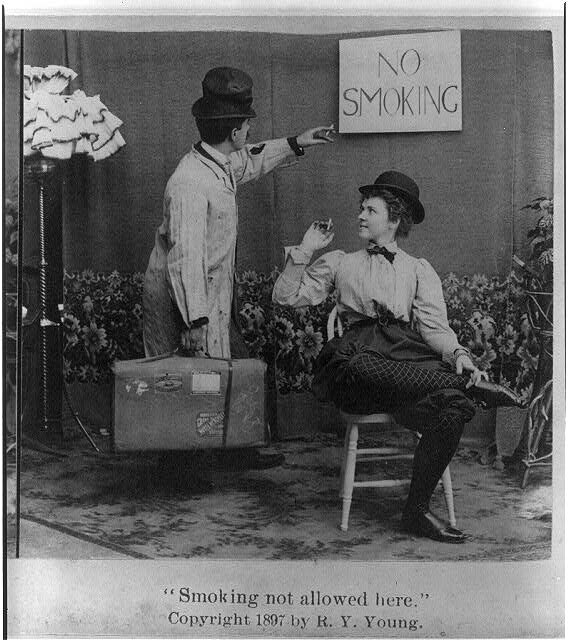 Smoking not allowed here 1897.
