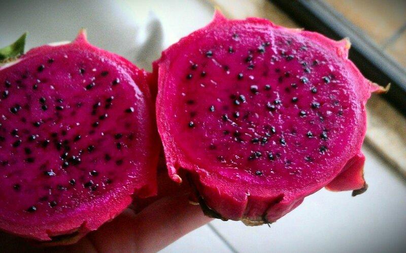 Экзотические плоды мира! Кактус Питайя Плод в разрезе