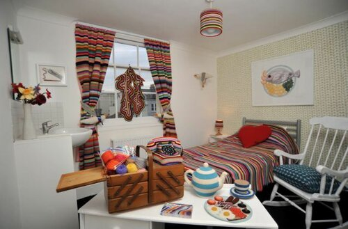 Knitted hotel room