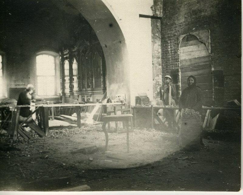 Вид церкви после разгрома