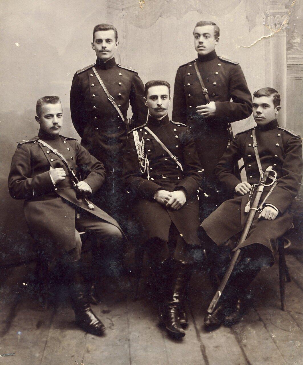 1904 год. Местечко Олита, Виленской губернии; мои сослуживцы Ново-Троицкого полка