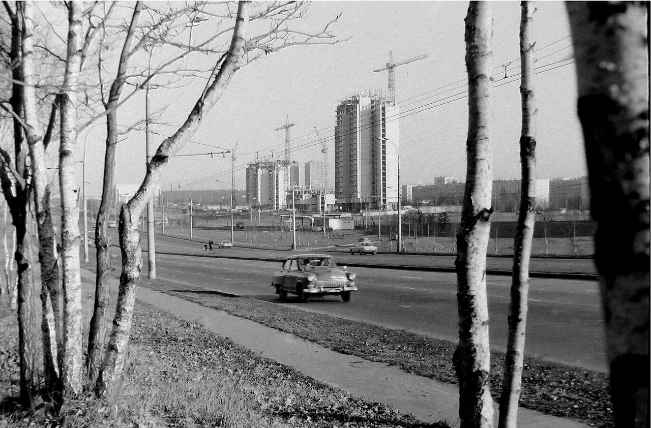 1976.Москва, Юго-запад, Ленинский проспект
