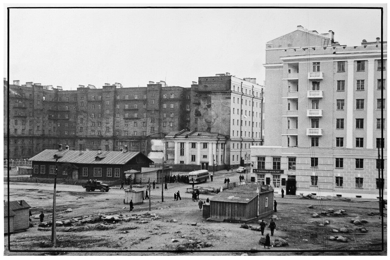 Улица Самойловой и Пионерский переулок. 1949.