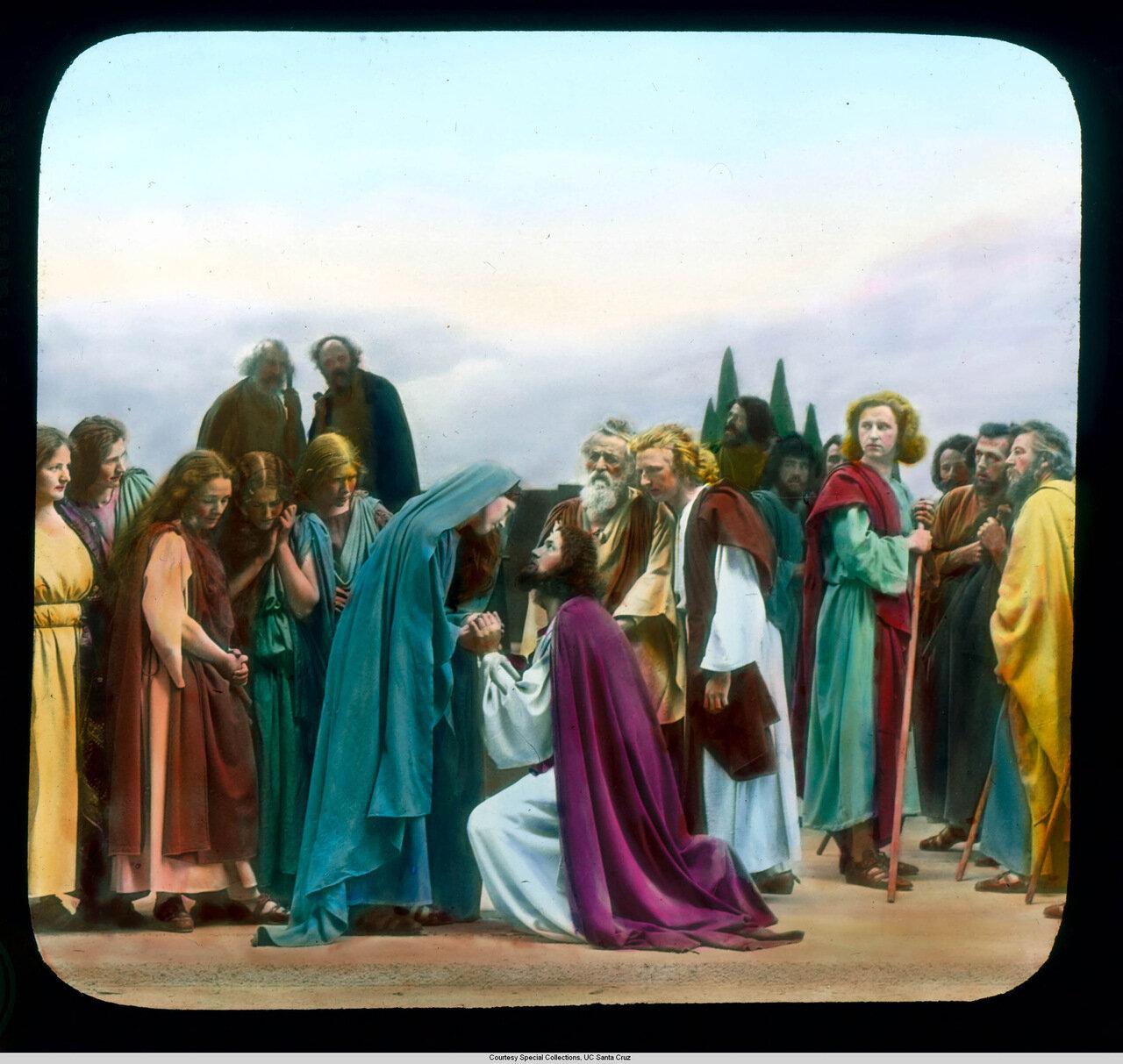 Обераммергау. Страсти Христовы. Прощание Иисуса с матерью