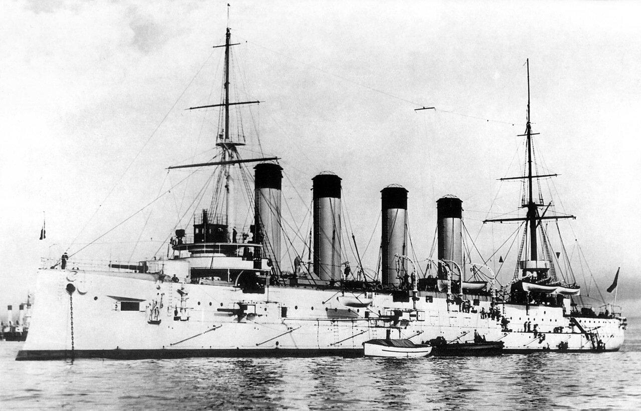 Броненосный крейсер Баян в Кронштадте, лето 1903 года
