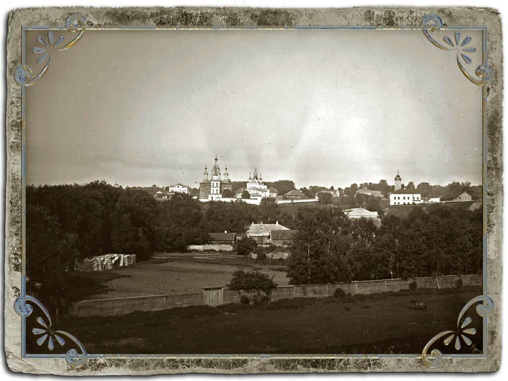 Вид на Дмитриевский монастырь с Никольской  горы