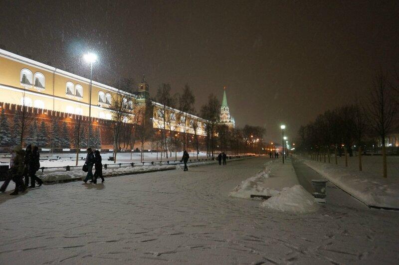 Москва, снегопад
