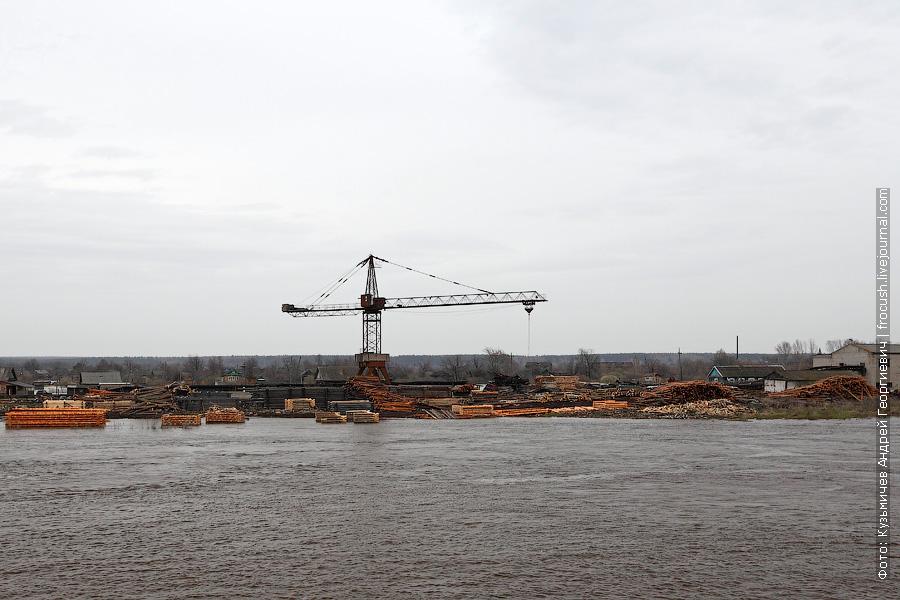 Вятка затопила всю прибрежную местность