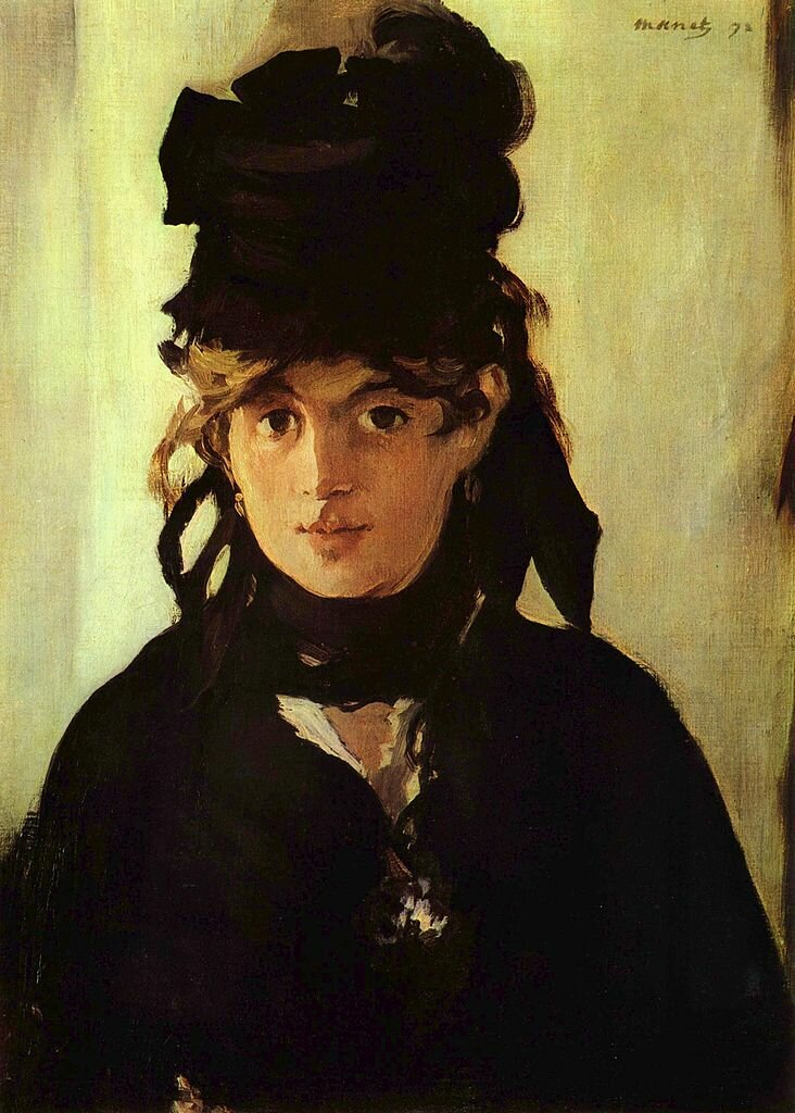 Portrait of Berthe Morisot with a Bouquet of Violets, 1872, Edouard Mane (1832–1883) Musée d'Orsay
