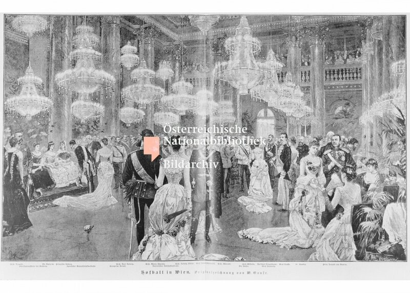 Hofball im Zeremoniensaal der Wiener Hofburg
