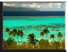 Французская Полинезия. Landscape of paradise island Moorea, French Polynesia. Фото  Piotr Gatlik - shutterstock