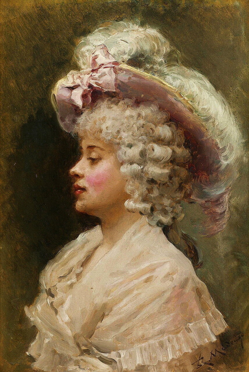Raimundo de Madrazo y Garretta (Spanish, 1841-1920) - An elegant lady