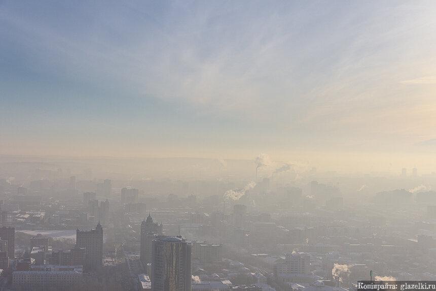 Панорама Екатеринбурга с БЦ Высоцкий.