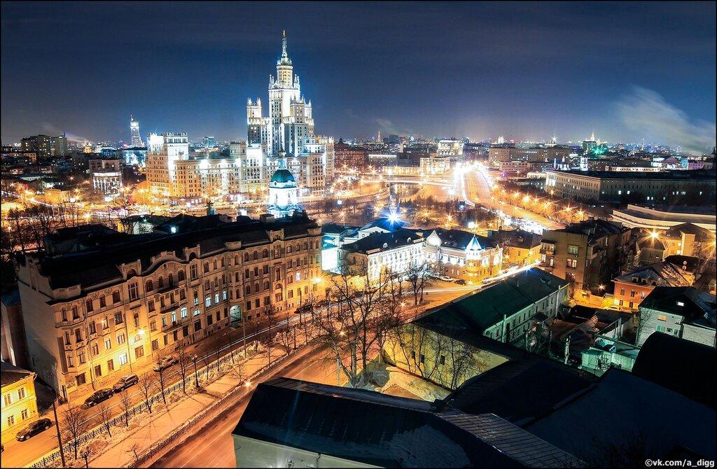 фото зимней ночной москвы с крыши егорова