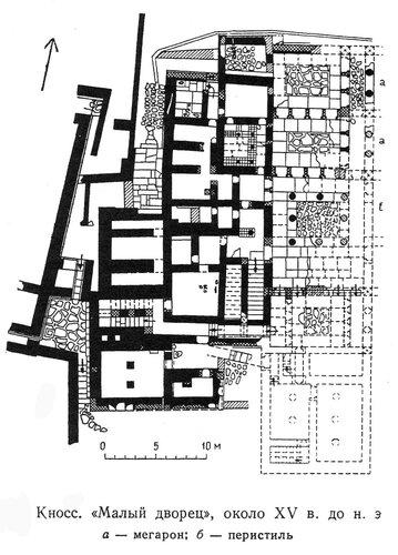 Малый дворец в Кноссе, Крит, план