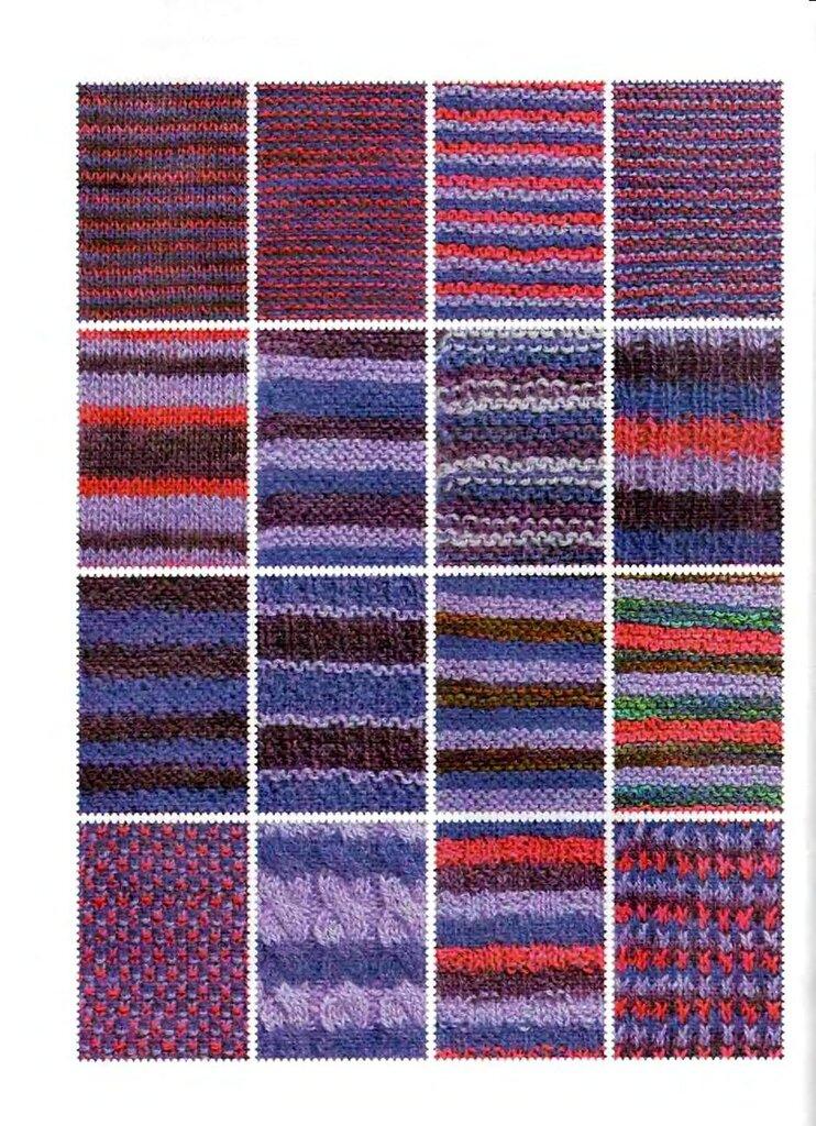Сочетание цветов в вязание спицами 787