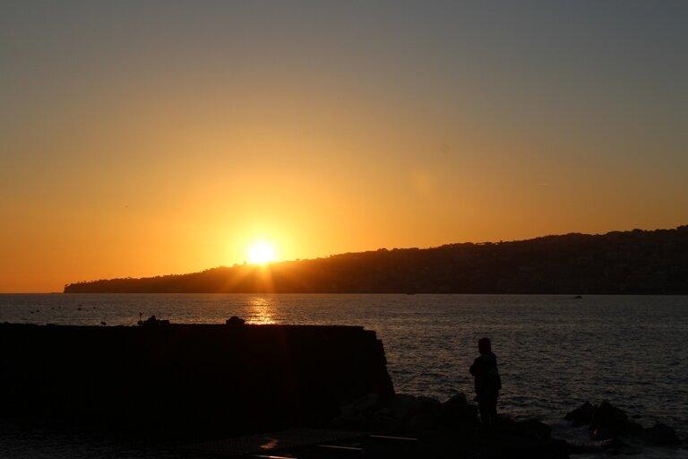 закат над Неаполитанским заливом