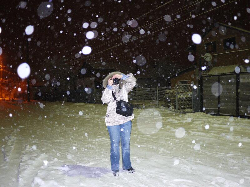 """поймать"" снежинку"