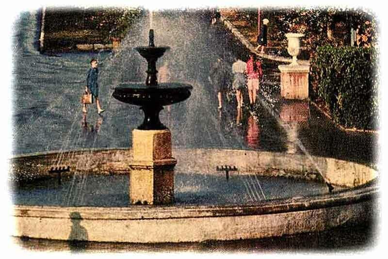 """фонтан на """"стометровке"""" - бассейн переделан в клумбу"""
