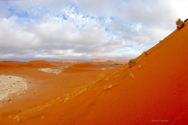 С дюны вниз.