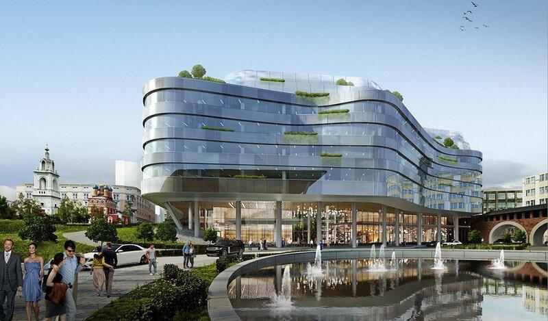 Проект новой гостиницы в Зарядье