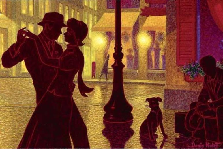 Помню, на вальс ты меня пригласил, Зная, что  в паре танцуешь  блестяще! Художник  Denis NoletDenis Nolet, Канада