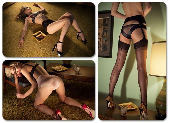Samantha Gradoville / Саманта Градовиль в нижнем белье в журнале Ponystep, зима 2012-2013 / фотограф Chas Ray Krider