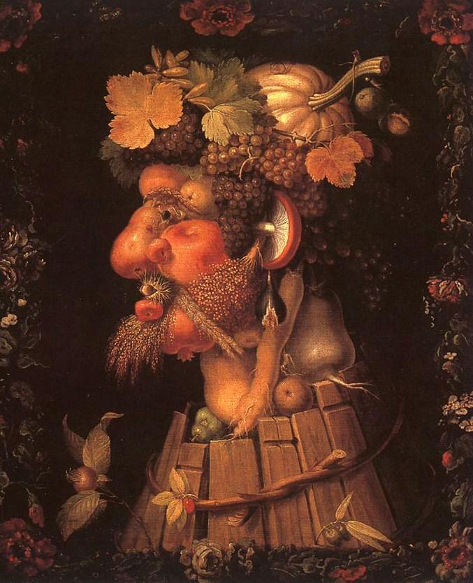 Autumn - The Four Seasons by Giuseppe Arcimboldo / Времена года художника Джузеппе Арчимбольдо - Осень