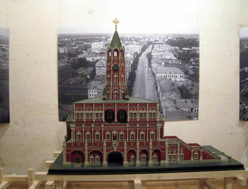 Макет Сухаревой башни. Музей архитектуры