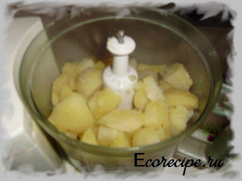 Приготовление пюре для начинки постных пирожков