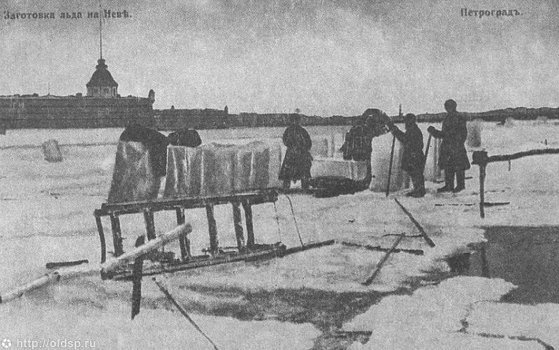 Как заготовляли лед для ледников