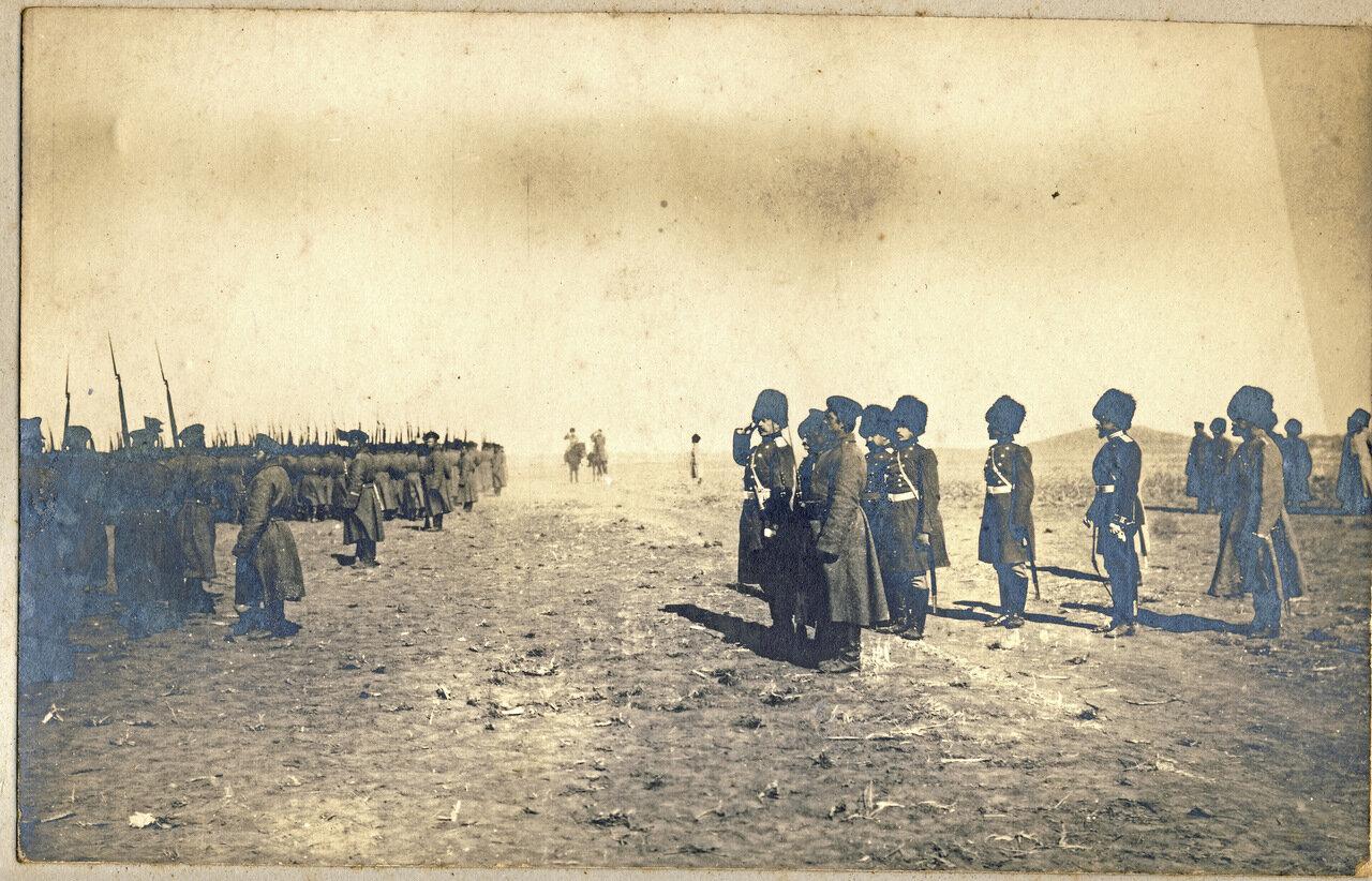 Смотр русских войск в Маньчжурии. 1905 год