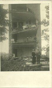 Лодзь, 1914 год. Дом после артобстрела.