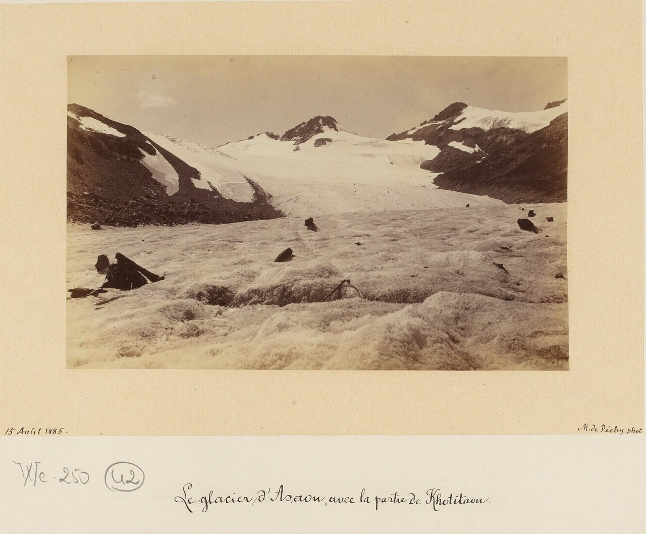 Ледник Асау с частью перевала Хотютау