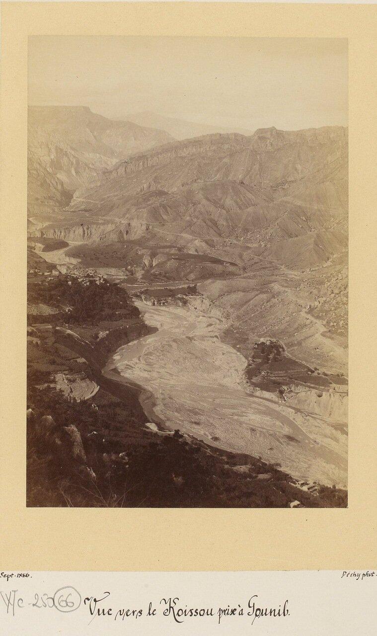 Река Койсу в долине Гуниб